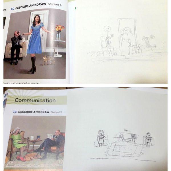 Describe and draw czyli opisz i narysuj - element zabawy na angielskim dla dorosłych