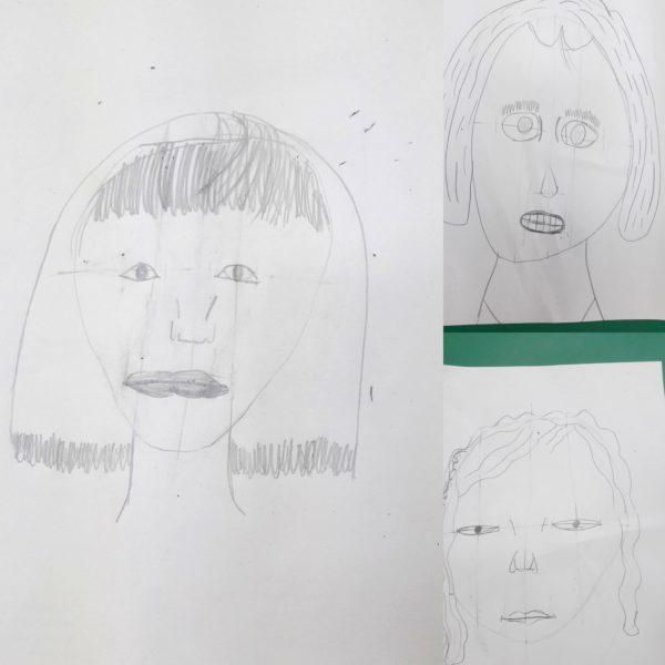 How to draw a face - posłuchaj polecenia w języku angielskim i narysuj